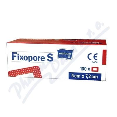 Fixopore S sterilní náplast 5x7.2cm 100ks