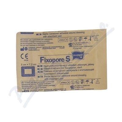 Fixopore S sterilní náplast 5x7.2cm 1ks