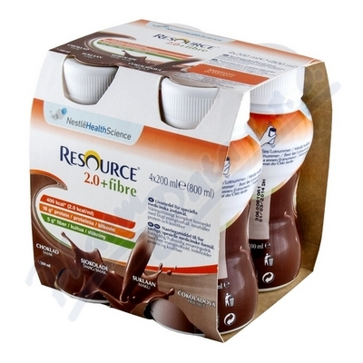 Resource 2.0kcal Fibre Čokoládový por.sol.4x200ml