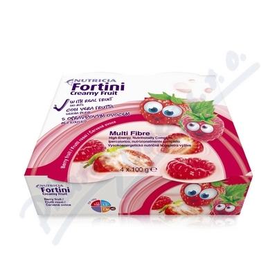 Fortini Creamy Fruit Multi Fibre červ.ovoce 4x100g