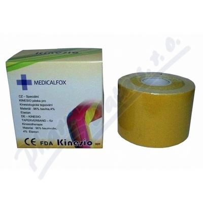 FOX MUSCLE TAPE kinezi tejp.páska žlutá 5cmx5m