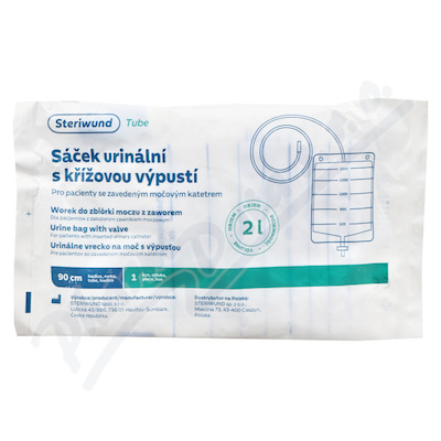 Sáček urinální 2000ml s křížovou výpustí Steriwund