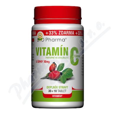 Vitamín C 500mg s šípky prodl.účinek tbl.30+10
