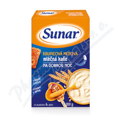 Sunar mléčná krupicová med.kaše na dobrou noc 225g