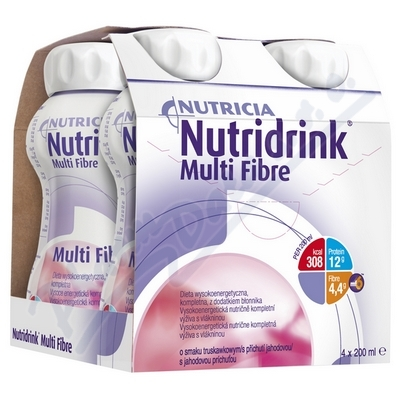 Nutridrink Multi Fibre s př.jahod. por.sol.4x200ml