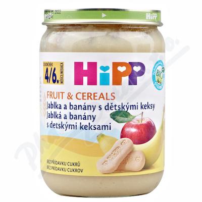 HiPP OV&CEREAL BIO Jabl.a banány s děts.keksy 190g