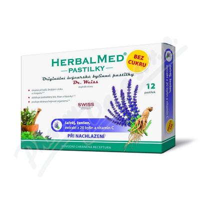 HerbalMed past. Dr.Weiss BEZ CUKRU Šalv+žen+C 12