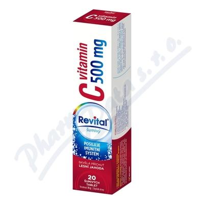 Revital C vitamin 500mg lesní jahoda tbl.eff.20