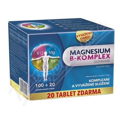 Magnesium B-komplex Glenmark tbl.100+20