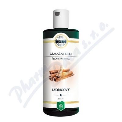 TOPVET PROFESSIONAL Skořicový masážní olej 200ml