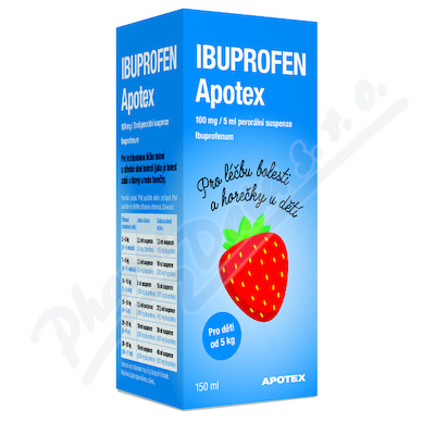 Ibuprofen Apotex 100mg/5ml por.sus.1x150ml