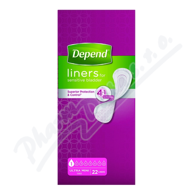 Depend Liners Ultra mini inkont.vložky ženy 22ks