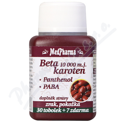 MedPharma Beta karot.10 000 m.j.Pant.+PABA tob.37