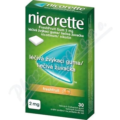 Nicorette FreshFruit Gum 2mg gum.mnd.30