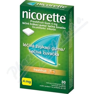 Nicorette FreshFruit Gum 4mg gum.mnd.30