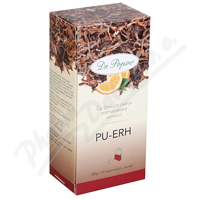 Dr.Popov Čaj Pu-Erh pomeranč 20x1.5g