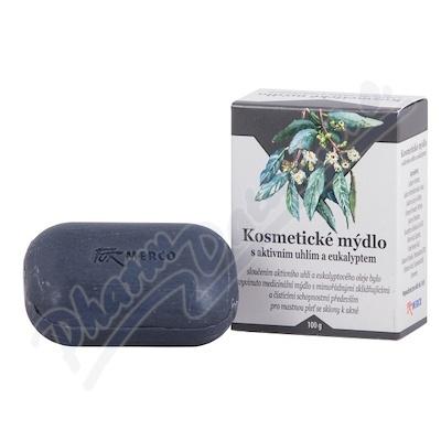 Kosmetické mýdlo s AKTIV. UHLÍM a EUKALYPTEM 100g