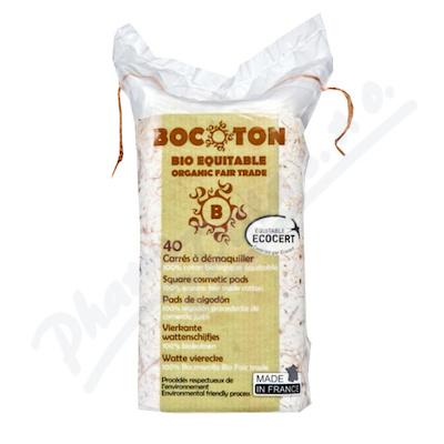 Bocoton Bio 40 čtverc.tamponů -velmi jemné čištění
