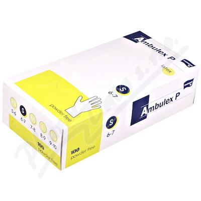 Ambulex P rukavice latexové nepudrované S 100ks