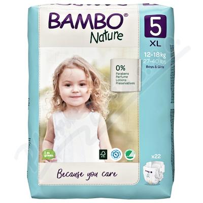 Bambo Nature 5 děts.plenkové kalhotky 12-18kg 22ks