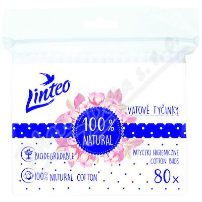 Vatové tyčinky papírové LINTEO 80ks