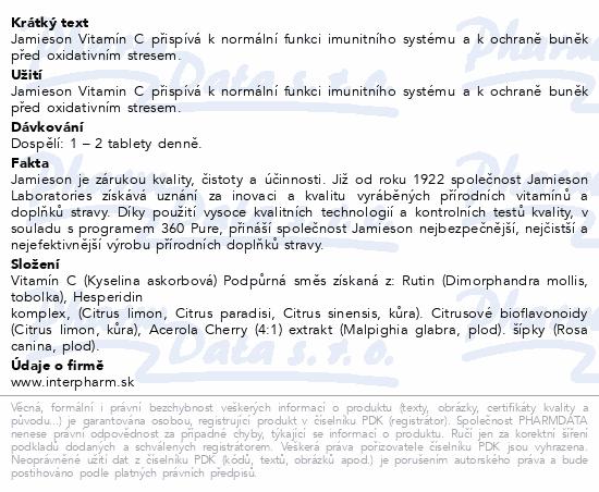 JAMIESON Vitamín C 500 mg tbl.120