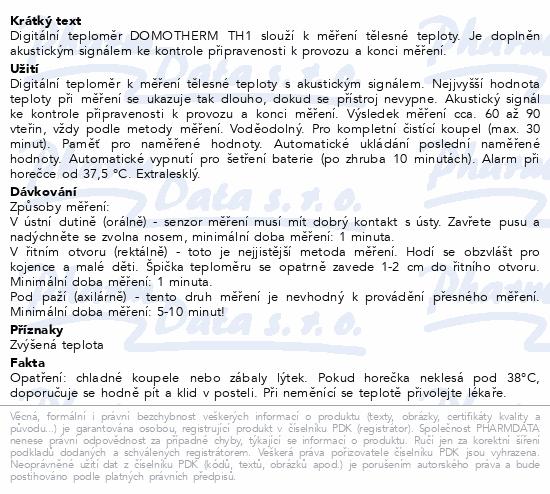 DOMOTHERM Teploměr lékařský digitální TH1