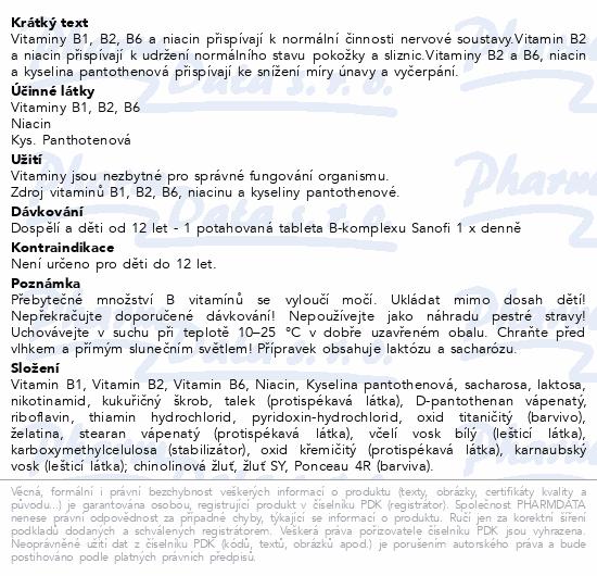 B-komplex forte Sanofi por.tbl.flm.100 Glass