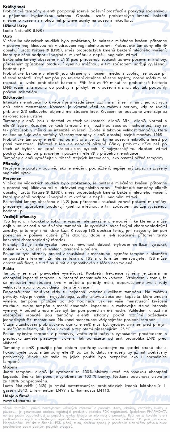 Probiotické tampóny ellen - Normal 12 ks