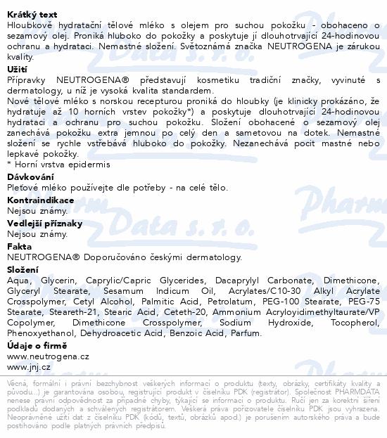 NEUTROGENA NR Hl. hydr. těl. mléko s olejem 400ml