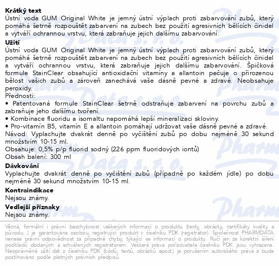 GUM UV Orig. White bělící úst.voda 300ml G1747EMEA