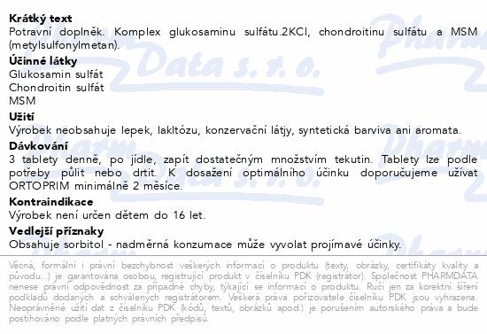 NATURVITA ORTOPRIM kloubní výživa tbl.90