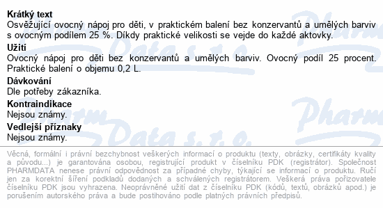 Relax jablko-arónie-višeň-lesní jahoda 0.2l