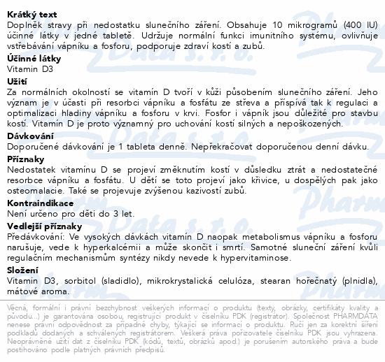 NATURVITA Vitamín D3 400 I.U. tbl.90