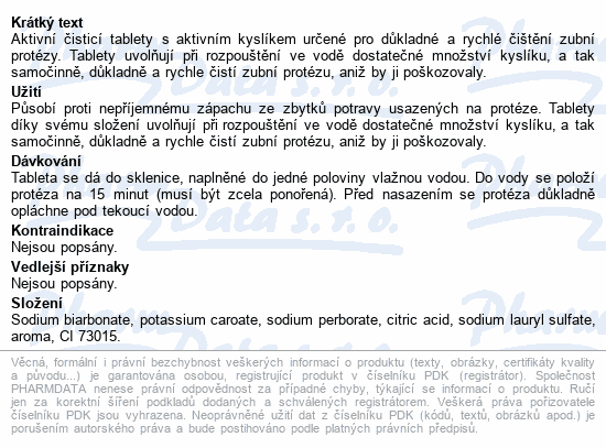 Protefix Aktivní čistící tab.na zub.protézu tbl.66