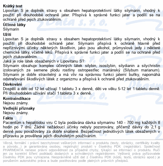 Lipovitan S tbl.90 - nový
