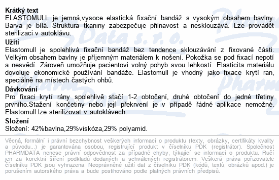 Elastomull obinadlo bílé kohezivní 4cmx4m 20ks
