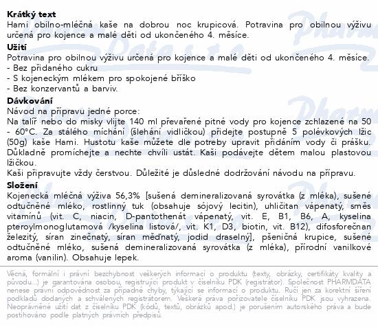 Hami kaše ml.krupicová s van.příchutí DN 225g 4M