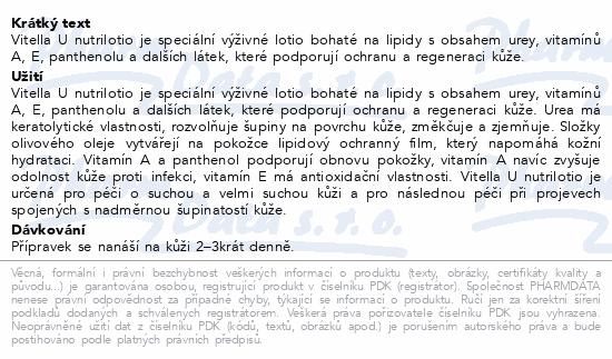 Vitella U Nutrilotio výživný balzám s ureou 120ml