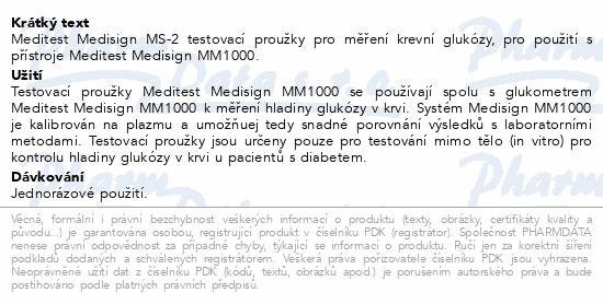 Test.proužky Meditest Medisign MS-2 50ks