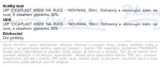 LA ROCHE-POSAY CICAPLAST Krém na ruce 50ml