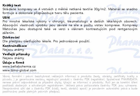 Matovlies kompresy netk.text.30g 5x5cm 100ks