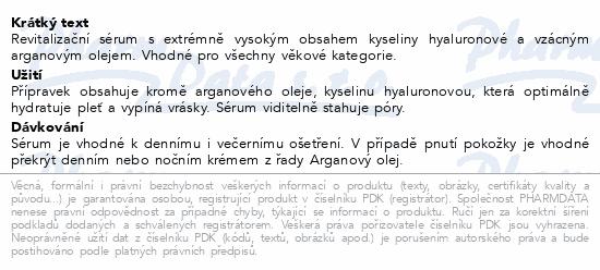 RYOR Arganový Revital. sérum s kys.hyalur. 50ml