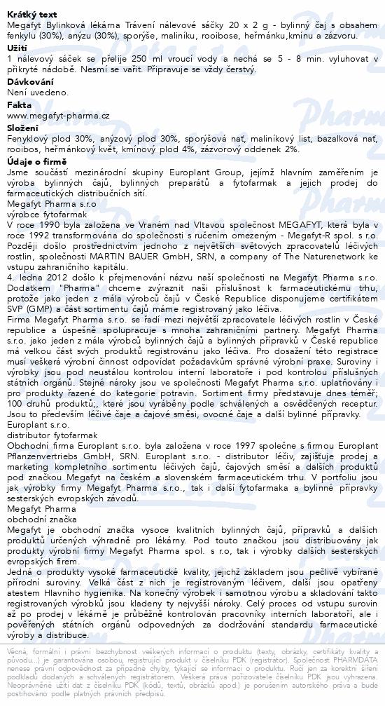 Megafyt Bylinková lékárna Trávení 20x2g