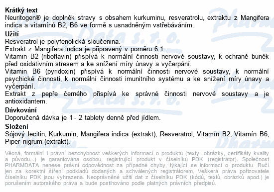 Neuritogen tbl.30