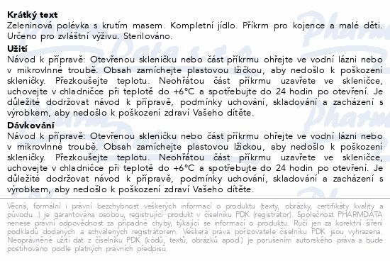 HiPP POLÉVKY BIO Zeleninová s krůtím m. 190g