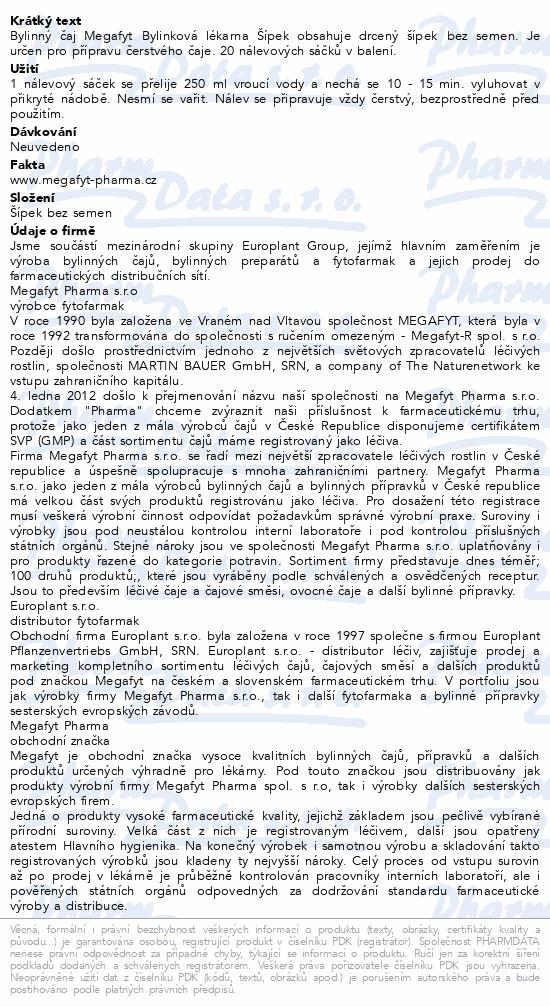 Megafyt Bylinková lékárna Šípek 20x3.5g