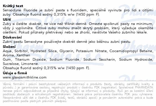 Sensodyne Fluoride ZP 75ml