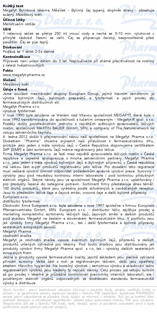 Megafyt Bylinková lékárna Měsíček 20x1.5g