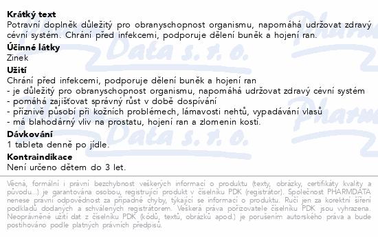 Zinek 15mg tbl.30+15 Bio-Pharma
